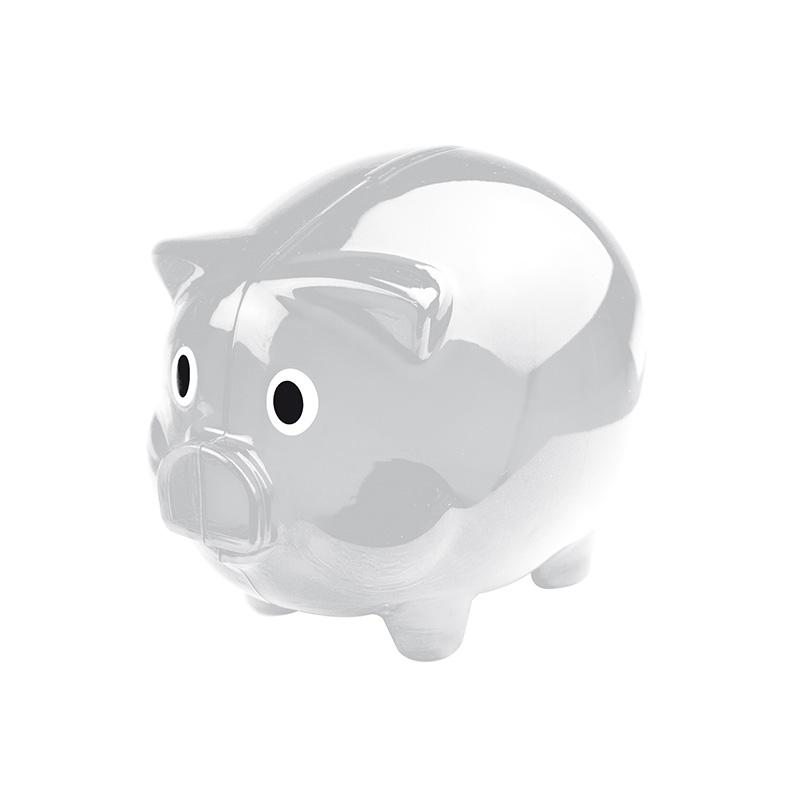 Transparentes Sparschwein