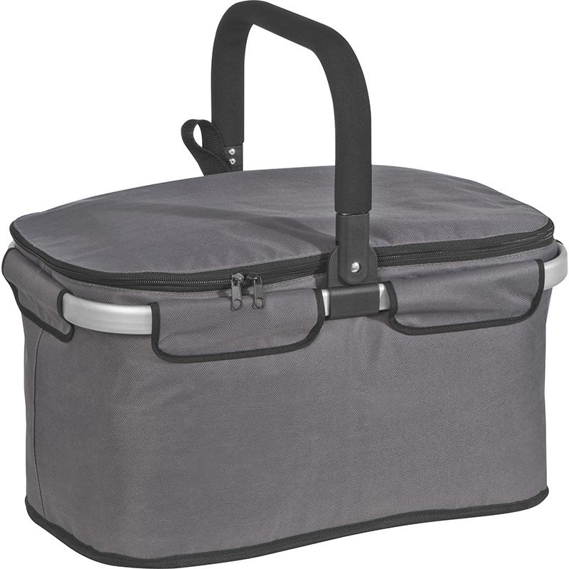Einkaufskorb aus Polyester mit Tragehenkeln aus Aluminium und Kühlfach