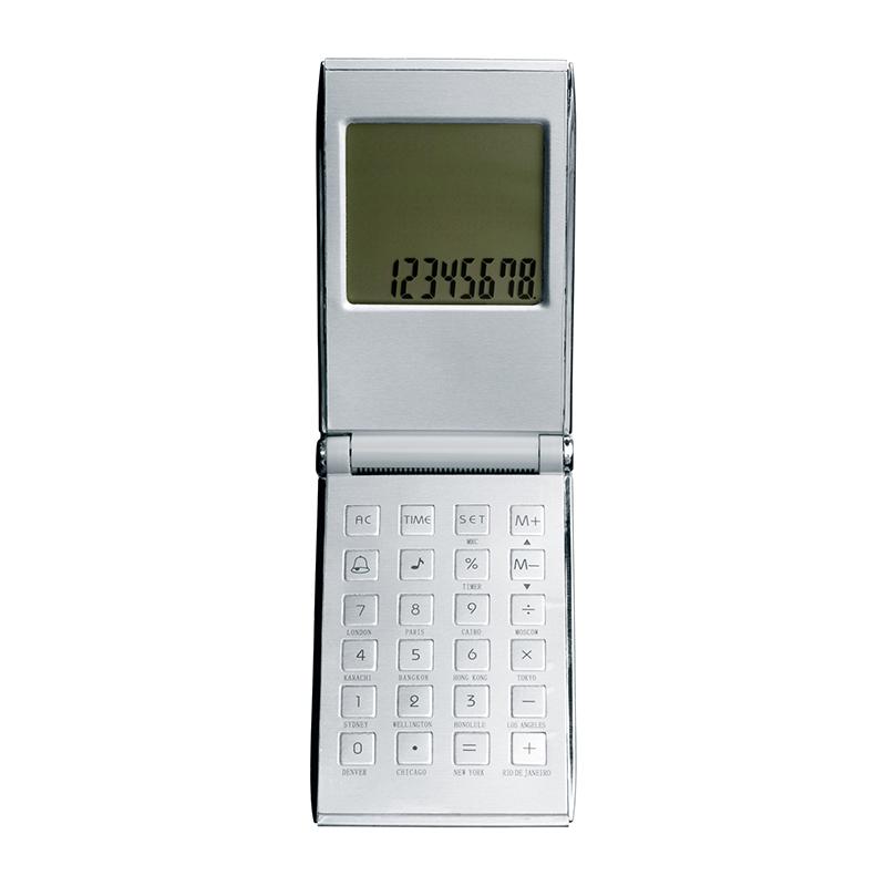 Taschenrechner mit Weltzeituhr REFLECTS-PRATO