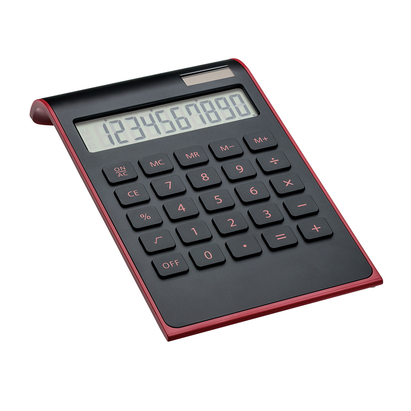 Taschenrechner REEVES-VALINDA BLACK RED