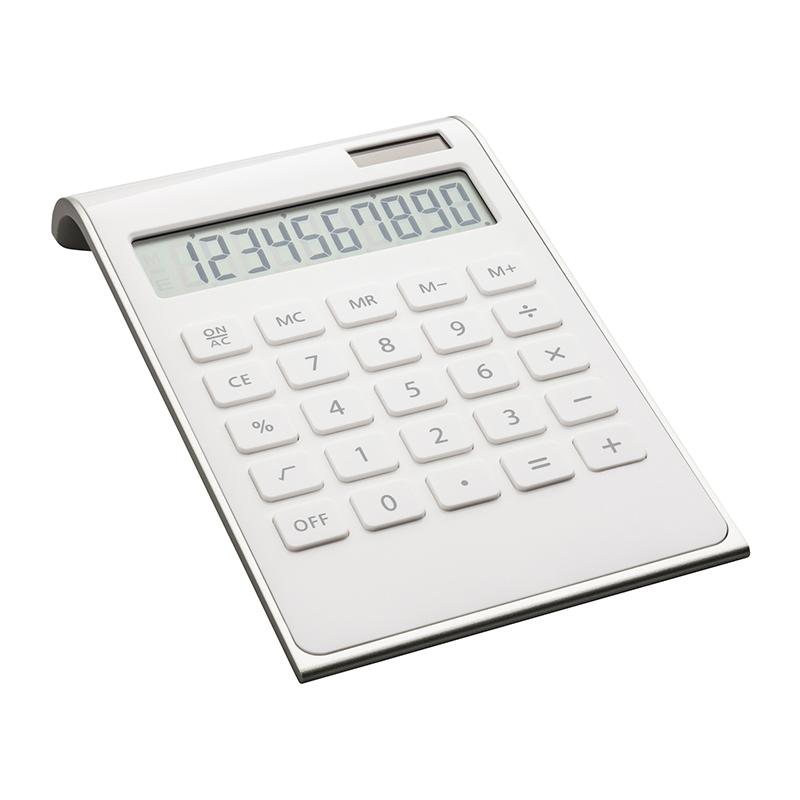 Taschenrechner REEVES-VALINDA WHITE SILVER