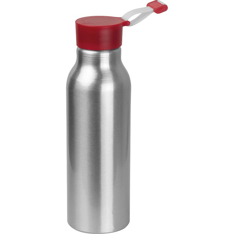 Trinkflasche aus Aluminium mit Silikondeckel, 600 ml