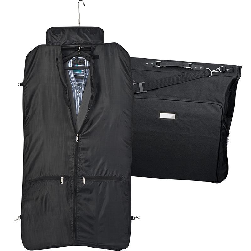 Kleidersack aus Polyester mit Metallschild