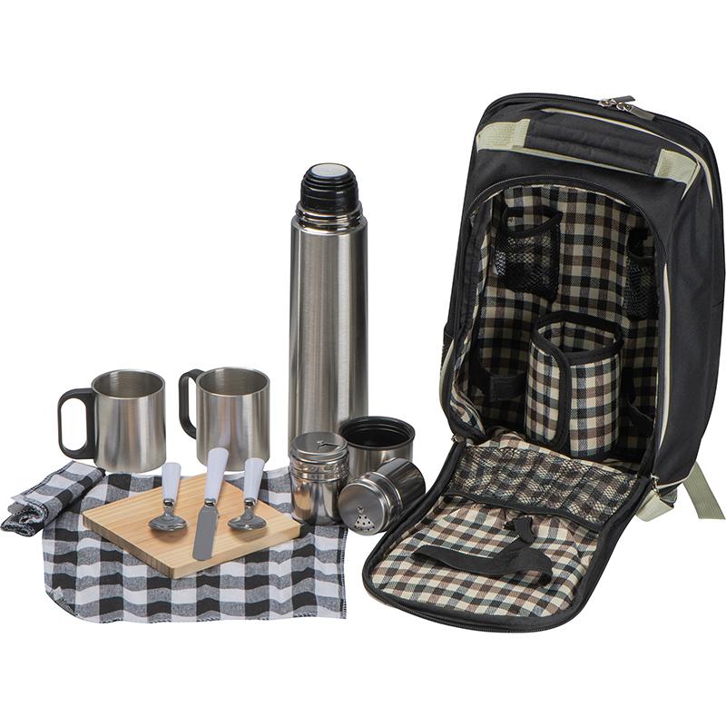 Picknickrucksack aus Edelstahl mit integrierter Kühltasche