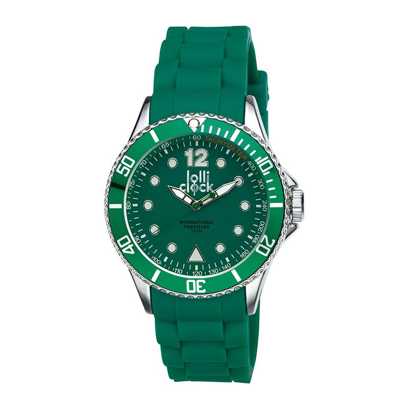 Armbanduhr LOLLICLOCK-CHROME GREEN