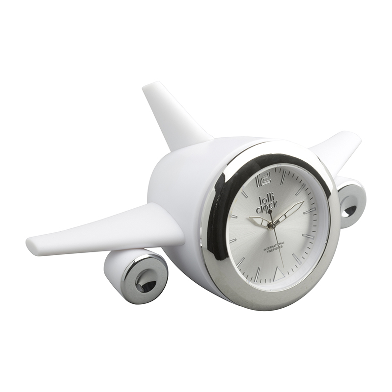 Uhr LOLLICLOCK-PLANE WHITE