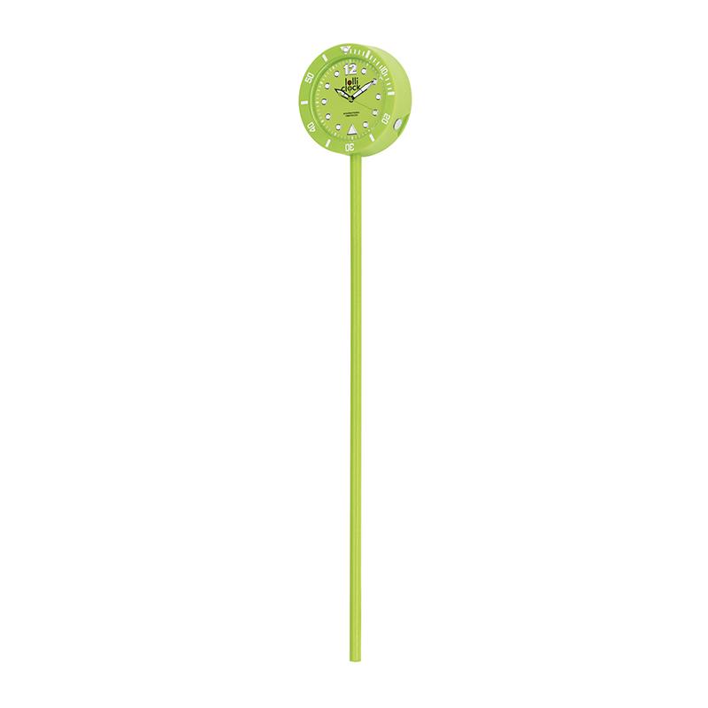 Uhr LOLLICLOCK-CLASSIC LIGHT GREEN