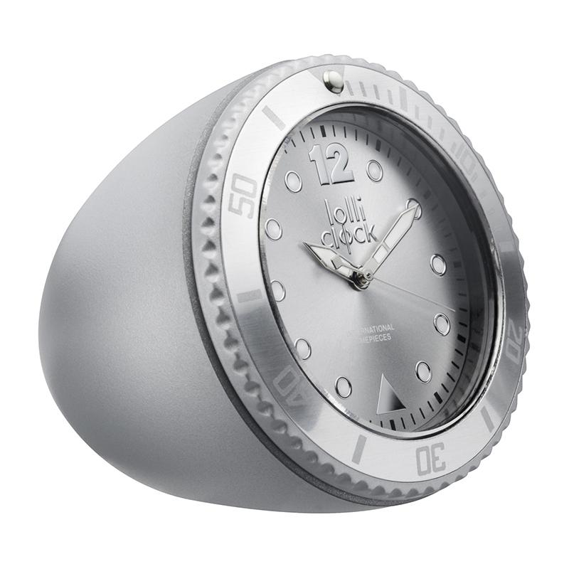 Uhr LOLLICLOCK-ROCK MATT SILVER