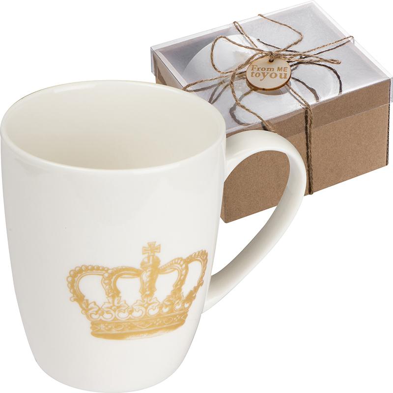 Tasse mit Kronen Aufdruck, 300 ml
