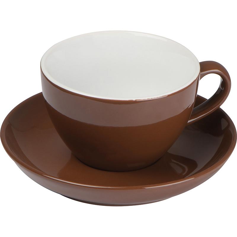 Tasse aus Keramik mit Untersetzer, 220 ml