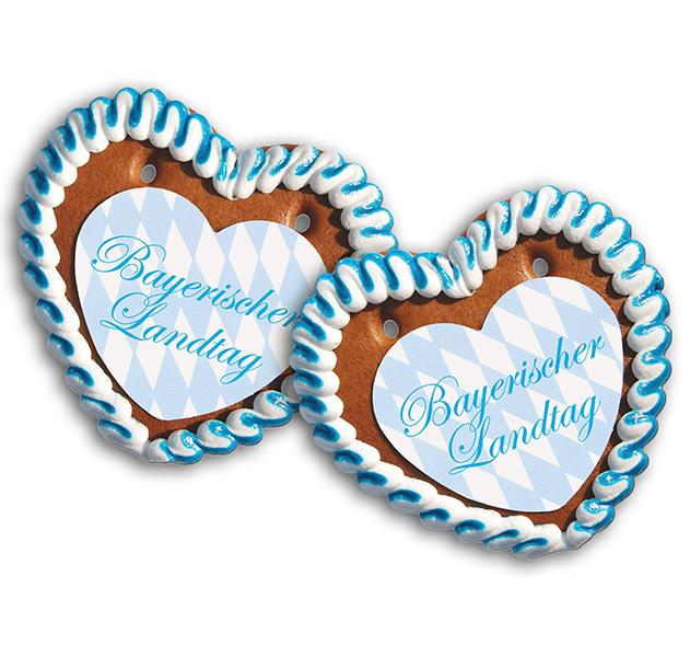 Lebkuchenherz Größe 25 mit Herzpapieraufleger