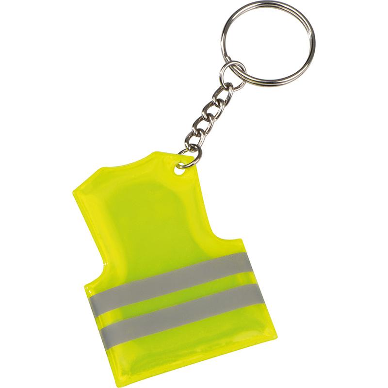 Schlüsselanhänger in der Form einer Sicherheitsweste