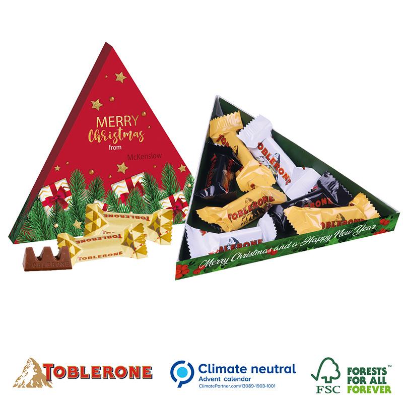 TOBLERONE Minis in Präsentbox Dreieck, Klimaneutral, FSC®
