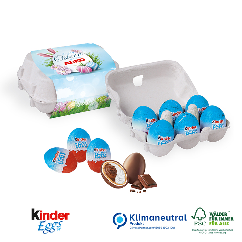 Schoko-Eier 6er-Set, Premium-Füllvarianten