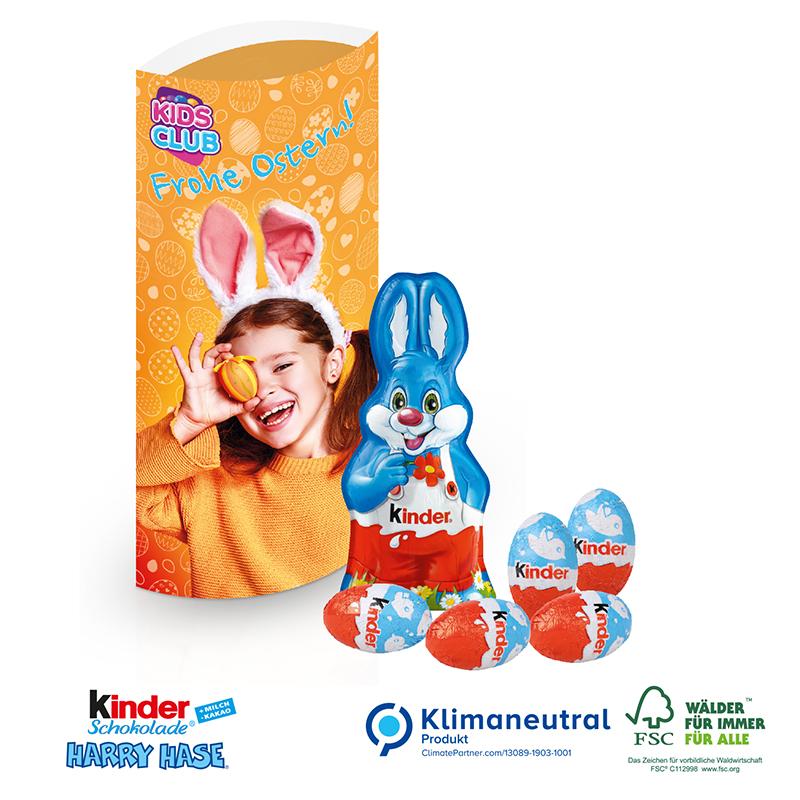 Kissenverpackung mit Kinder-Schokolade