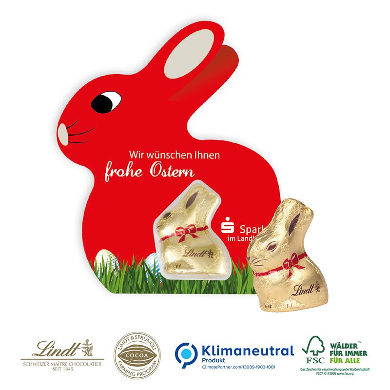 Promotion-Card Hase mit Goldhase von Lindt