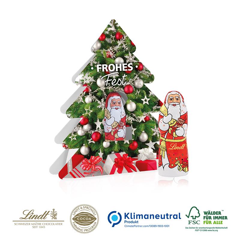 Weihnachtsbaum mit Nikolaus, Klimaneutral, FSC®