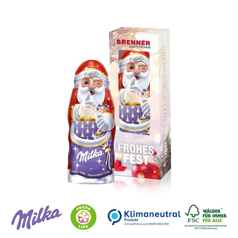 Milka Weihnachtsmann, 45 g, Klimaneutral, FSC®