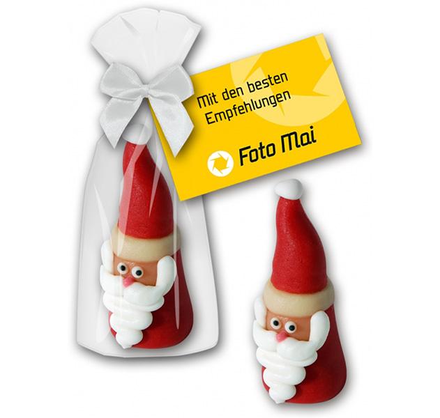 Marzipan Nikolaus mit Werbekarte