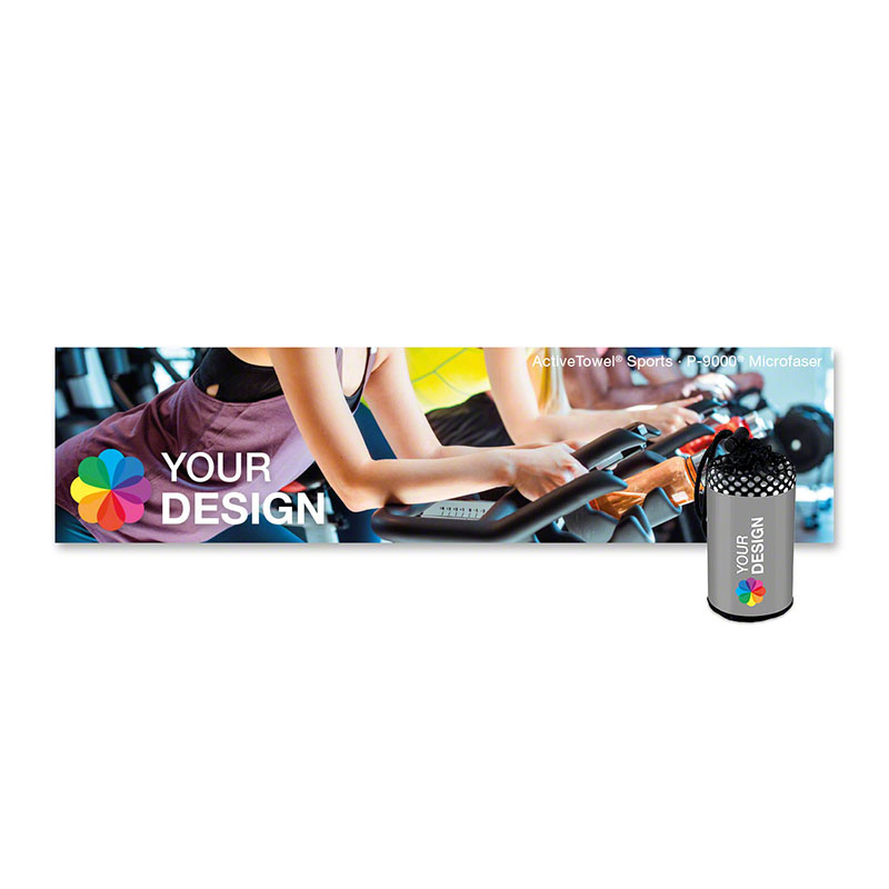 ActiveTowel® Sports Microfaser-Sporthandtuch 100x25 cm