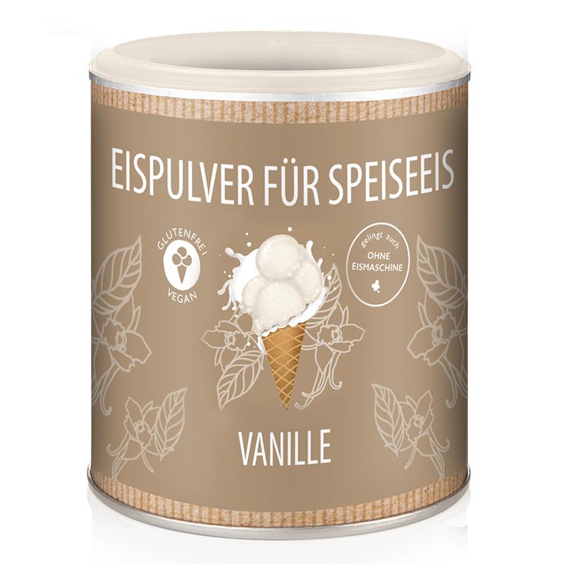 Eismixglas und M-Dose Vanille im Fairtrade-Baumwollsäckchen