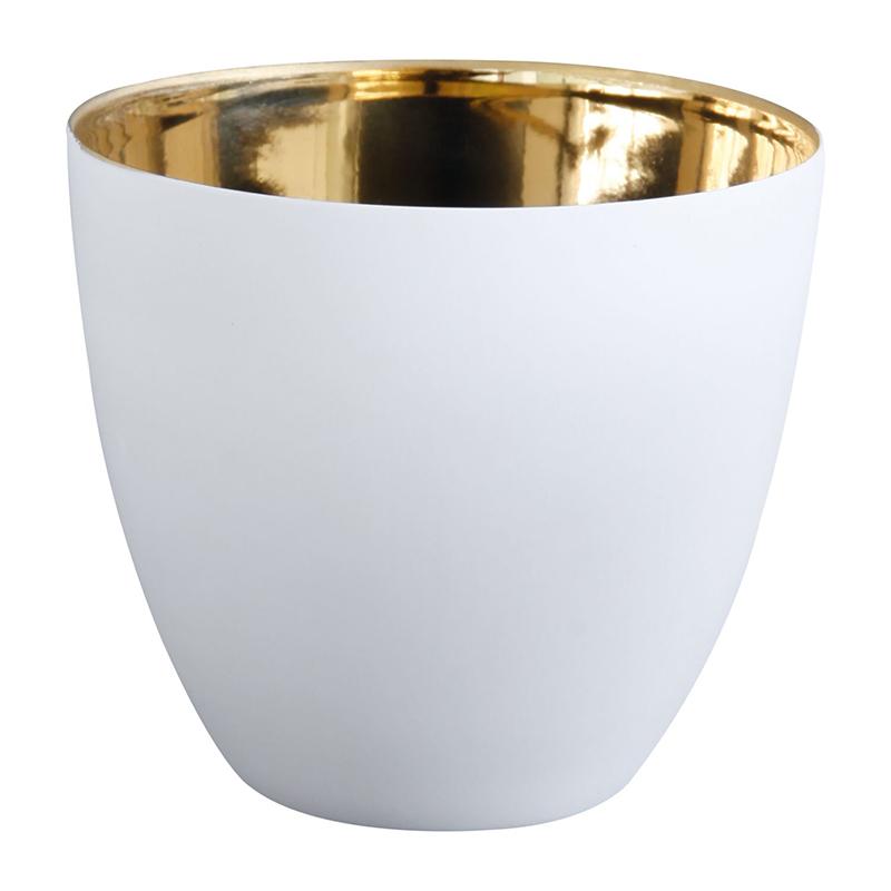 ASA Selection Windlicht // Gold weiß 9 cm