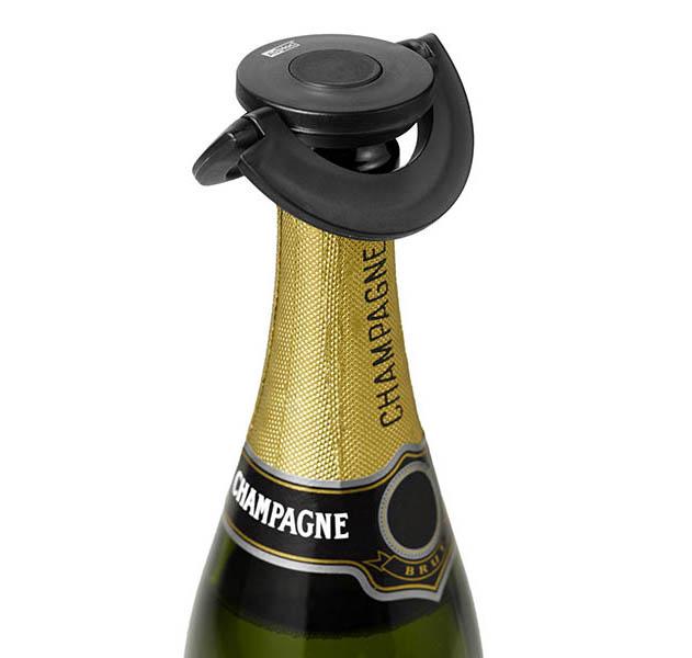 AdHoc Sekt- und Champagnerverschluss GUSTO SCHWARZ
