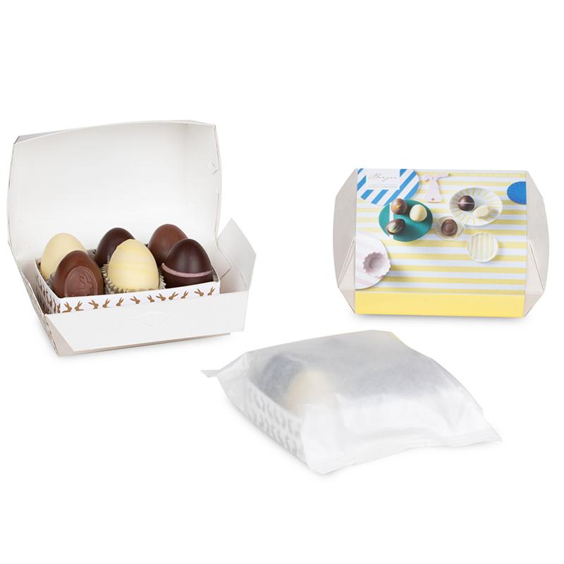BERGER  6er Pralinen-Eier Kartonbox