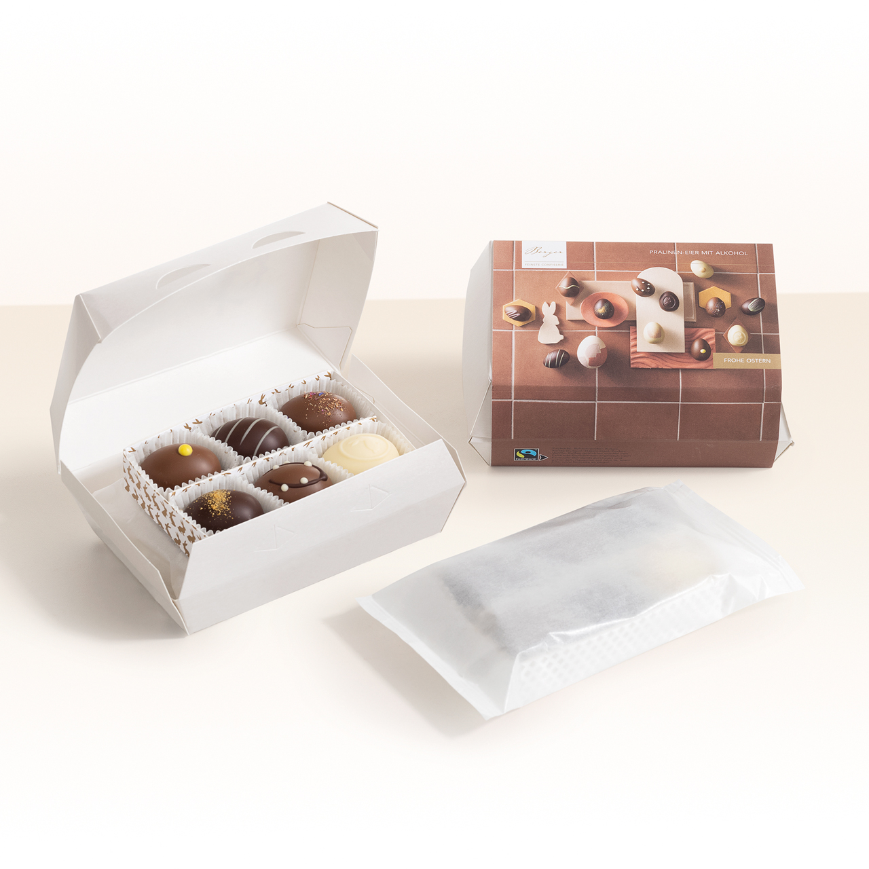BERGER Trüffel-Eier Kartonbox mit Alkohol