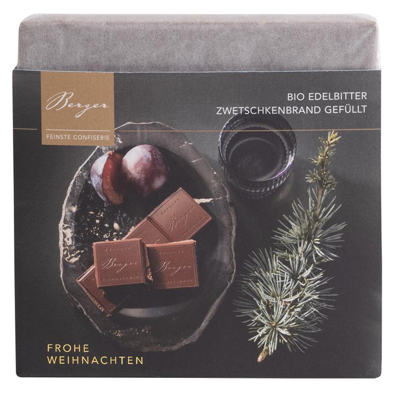 Berger Schokoladentafel Edelbitter Zwetschkenbrand Gefüllt