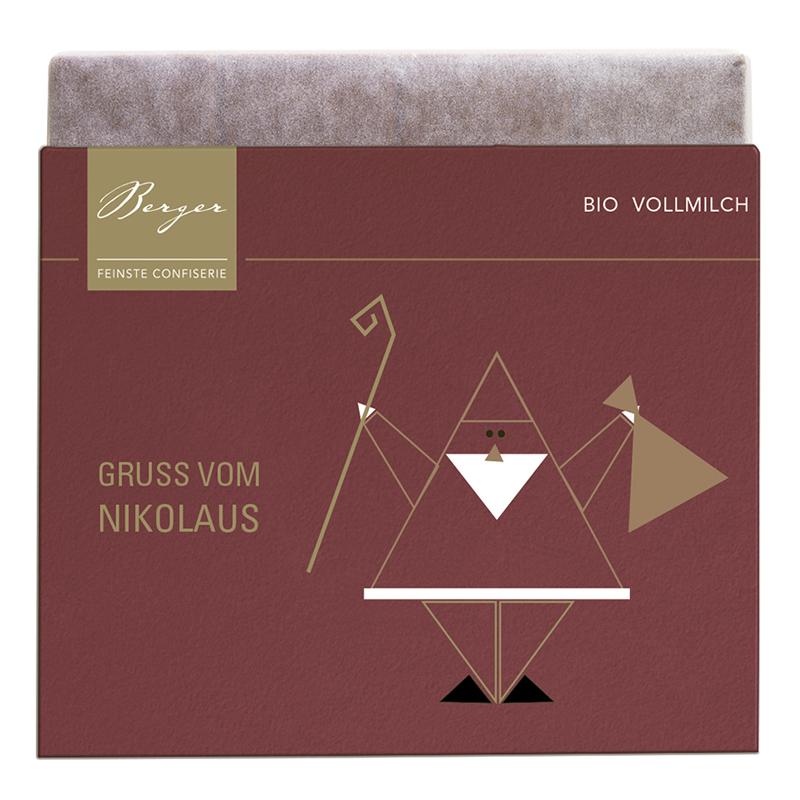 Berger Schokoladentafel Vollmilch Gruß vom Nikolaus