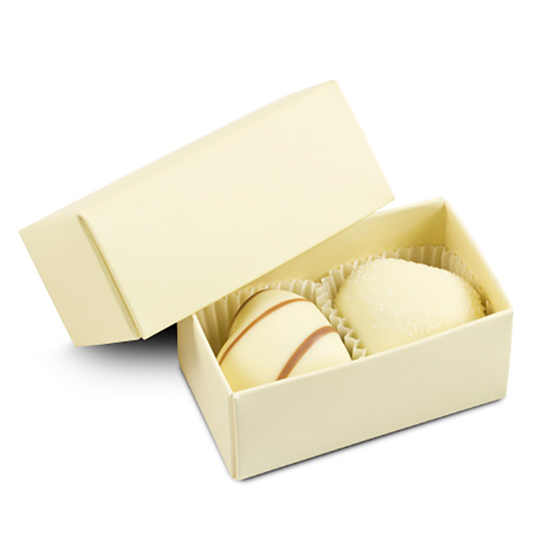 Geschenkpackung Choco Two Ecru