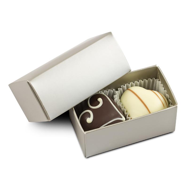 Geschenkpackung Choco Two Silber