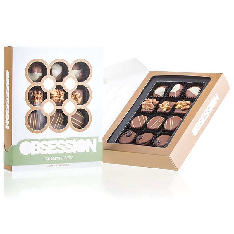 Geschenkpackung Pralinenmischung OBSESSION Nuts
