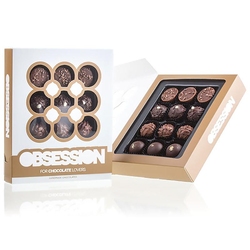 Geschenkpackung Pralinenmischung OBSESSION Chocolate