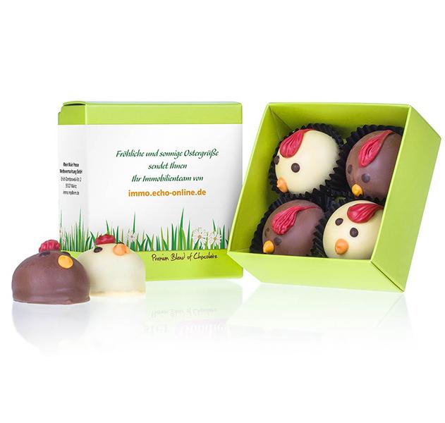 Geschenkpackung Choco Chickens
