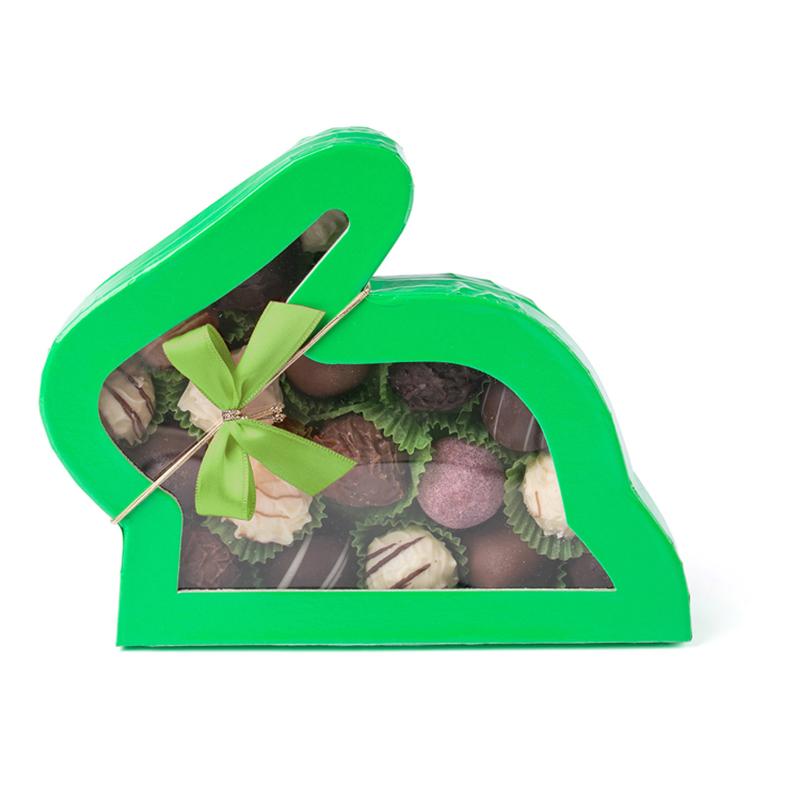 Geschenkpackung Grüner Hase Pralinenmischung