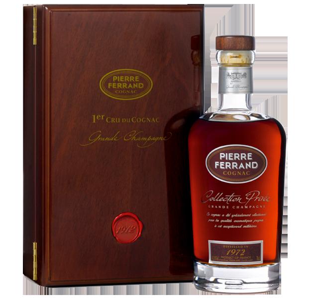 Cognac Pierre Ferrand Mémoire 1972 Edelholzschatulle - 43,8% vol.