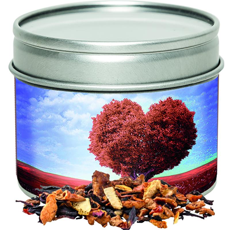 Omas Bratäpfelchen Tee Metalldose mit Sichtfenster
