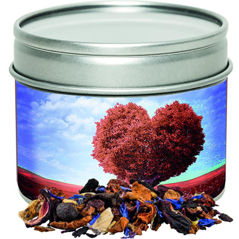 Christkindl Tee Metalldose mit Sichtfenster