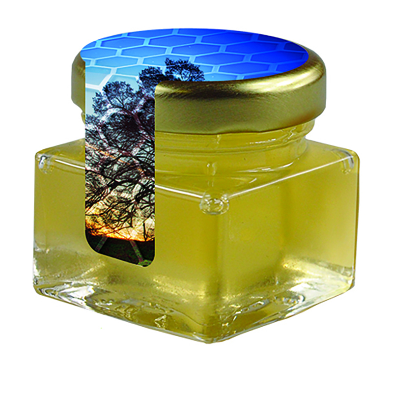 Bio Honig Linde Glas mit Metalldeckel