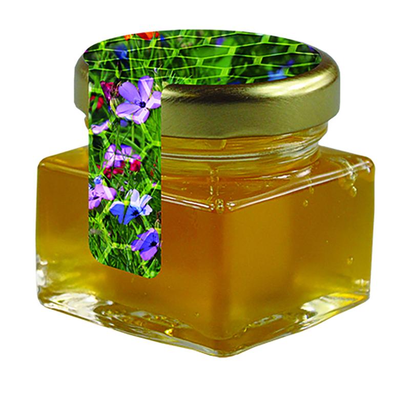 Bio Honig Wildblume Glas mit Metalldeckel