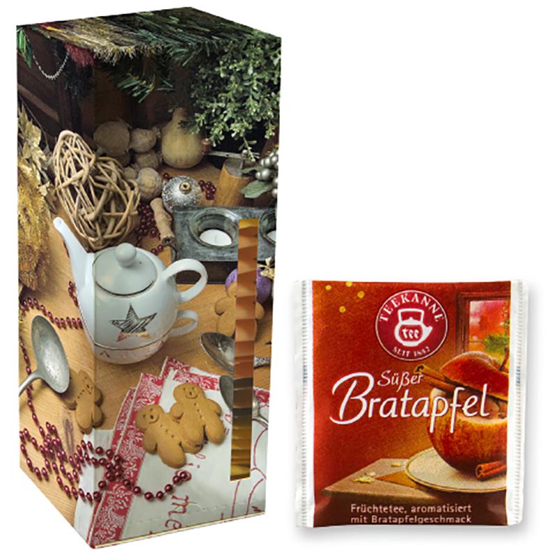 Beuteltee Bratapfel, 24 Stück, Faltschachtel Teetower