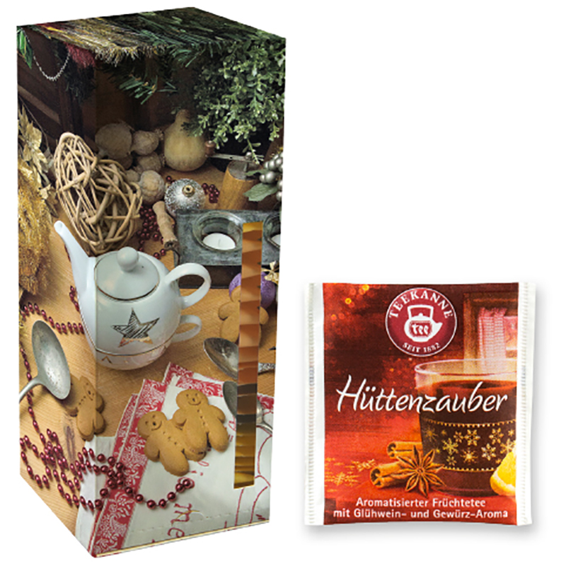 Beuteltee Hütenzauber, 24 Stück, Faltschachtel Teetower