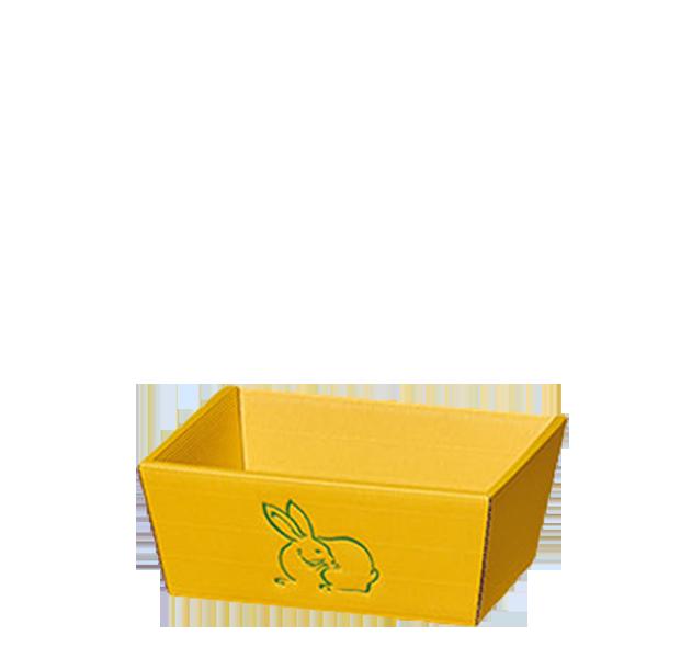 Präsentkorb Welle Modern Hase Gelb