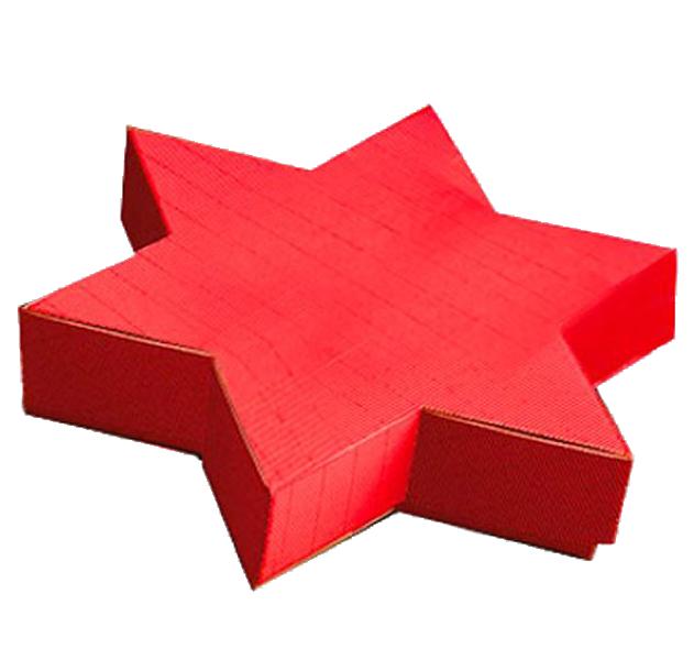 Präsentkarton Welle Modern STERN Rot