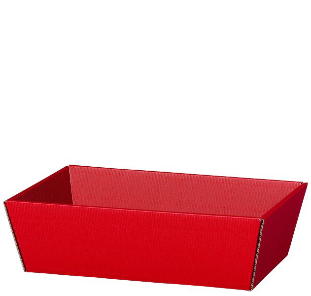 Präsentkorb Welle Modern Medium Rot
