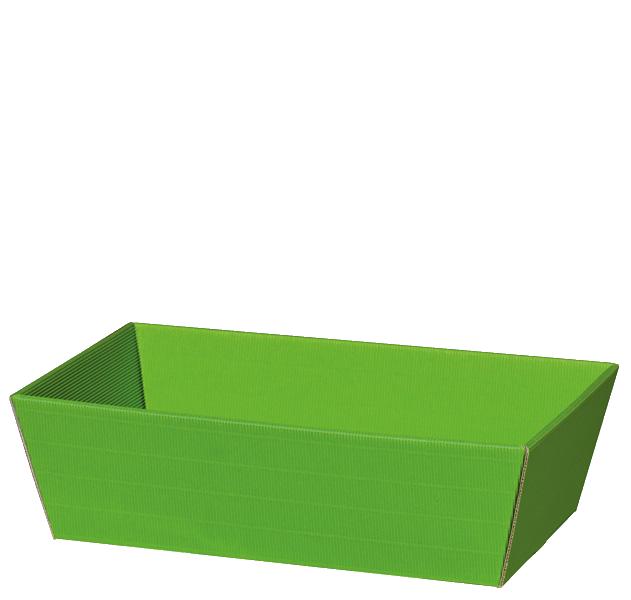 Präsentkorb Welle Modern Medium Hellgrün
