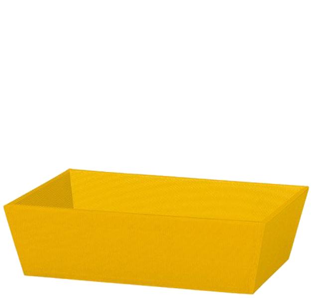 Präsentkorb Welle Modern Medium Gelb
