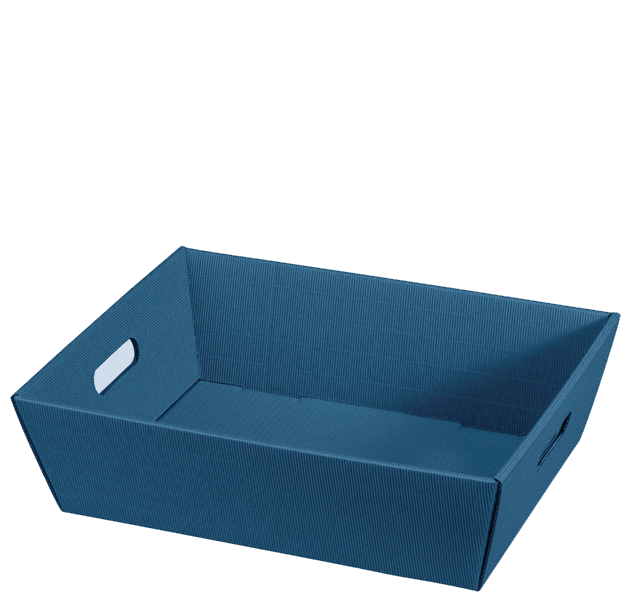Präsentkorb Welle Modern Big Blau